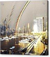 Docklands Double Rainbow Acrylic Print
