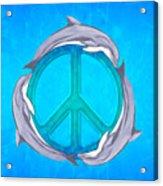 Dolphin Peace Acrylic Print
