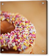 Donut And Sprinkles Acrylic Print