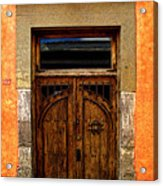 Door In Terracotta Acrylic Print