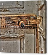 Door Latch Acrylic Print