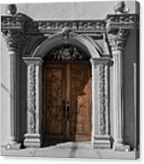 Doorway Of The Santa Teresa De Jesus Church Acrylic Print
