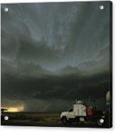 Doppler On Wheels Radar Trucks Wait Acrylic Print