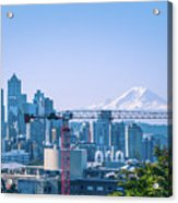 Downtown Cityscape View Of Seattle Washington Acrylic Print
