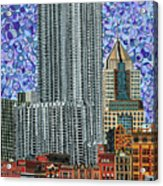 Downtown Pittsburgh - View From Smithfield Street Bridge Acrylic Print