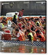 Dragon Boat Races On The Love River In Taiwan Acrylic Print