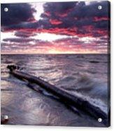 Drama Over Lake Erie Acrylic Print