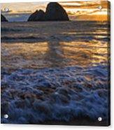 Dramatic Sunset Oregon Coast Usa Acrylic Print