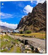 Drass Village Kargil Ladakh Jammu And Kashmir India Acrylic Print