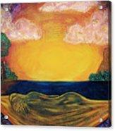 Dreaming Goddess Acrylic Print