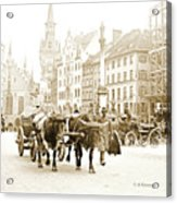 Dresden, Altmarkt Square, Germany, 1903 Acrylic Print