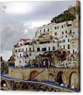 Driving The Amalfi Coast In Italy Acrylic Print