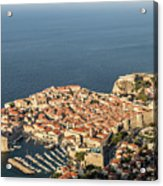 Dubrovnik And The Adriatic Coast In Croatia Acrylic Print