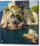 Dubrovnik King's Landing Fortress Acrylic Print
