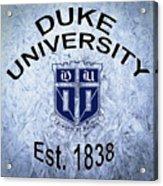 Duke University Est 1838 Acrylic Print