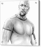 Dwayne Johnson Acrylic Print