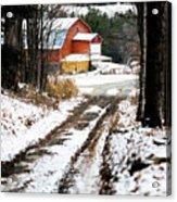 Early Winter Barn Acrylic Print