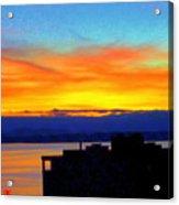 Edgewater Sunset Acrylic Print