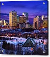 Edmonton Winter Skyline Acrylic Print