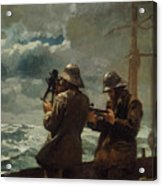 Eight Bells Acrylic Print by Winslow Homer