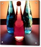 Electric Light Through Bottles Acrylic Print