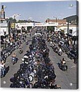 Elevated Panoramic View Of Main Street Acrylic Print