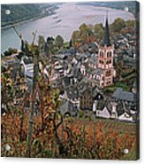 Elevated View Of Bacharach Acrylic Print