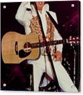 Elvis In Concert Acrylic Print