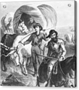 Emigrants To West, 1874 Acrylic Print
