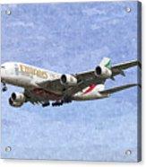 Emirates A380 Airbus Oil Acrylic Print