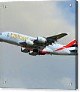 Emirates Airbus A380-861 Acrylic Print