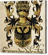 Emperor Of Germany Coat Of Arms - Livro Do Armeiro-mor Acrylic Print by Serge Averbukh