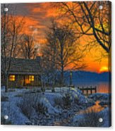 End Of Day  Beginning Of Winter Acrylic Print