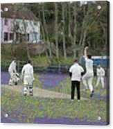England Club Cricket Acrylic Print
