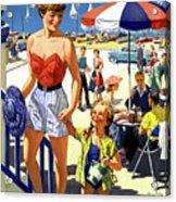England Weston Super Mare Vintage Travel Poster Acrylic Print