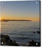 English Bay Sunset Acrylic Print