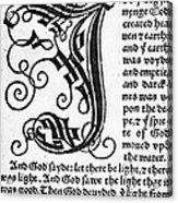 English Bible, 1535 Acrylic Print