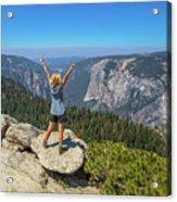 Enjoying At Yosemite Summit Acrylic Print