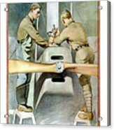 Mechanical Training - Enlist In The Air Service Acrylic Print