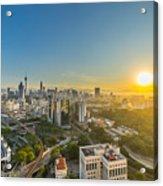 Epic And Beautiful Sunrise At Kuala Lumpur City Center Acrylic Print