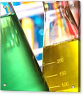 Erlenmeyer Flasks In Science Research Lab Acrylic Print