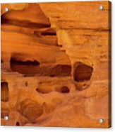 Eroded Sandstone Valley Of Fire Acrylic Print