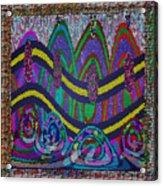 Ethnic Wedding Decorations Abstract Usring Fabrics Ribbons Graphic Elements Acrylic Print
