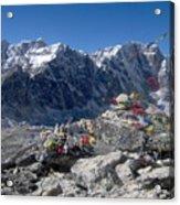 Everest Prayer Flags Acrylic Print
