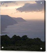 Exmoor Coast At Sunset Acrylic Print