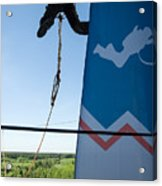 Extreme Sports Ropejumping Acrylic Print