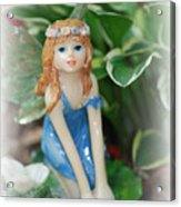 Fairy In Flowerbed Acrylic Print