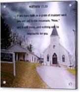Faith Acrylic Print