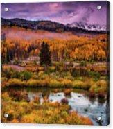 Fall Along Kebler Acrylic Print