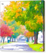 Fall In Holly Hill Acrylic Print